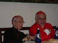 I Cardinali Ersilio Tonini e Josè Saraiva Martins. Il Cardinale Ersilio Tonini è Arcivescovo emerito di Ravenna-Cervia. Il Cardinale Josè Saraiva Martins è Prefetto emerito della Congregazione per le Cause dei Santi