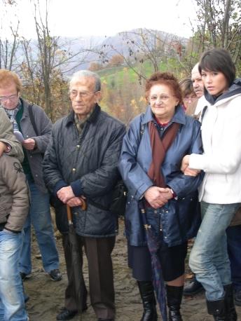Fernando Benassi e Riccardina Bononi. I coniugi hanno donato il terreno per la realizzazione della Cappella